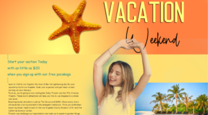 vacation weekend landing page